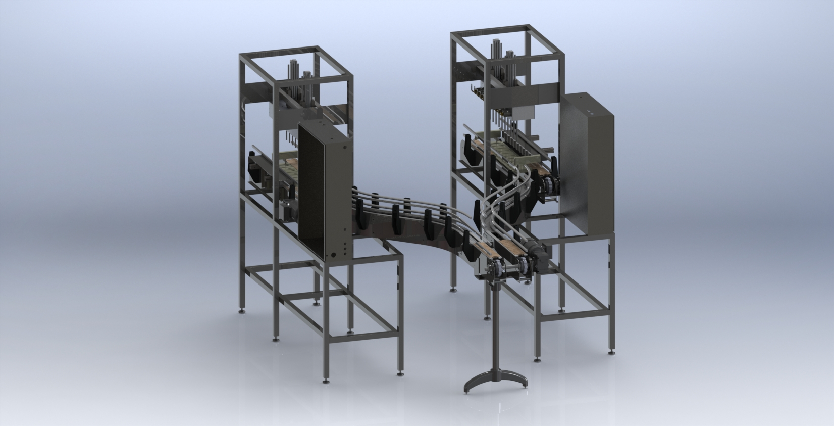 Food handling equipment created in SolidWorks